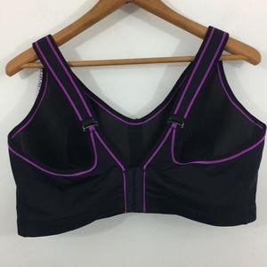 Cacique Intimates & Sleepwear - NWT Cacique High Impact Sports Bra - Black/purple